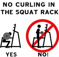 Curls in the Squat Rack