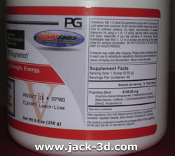 Jack3d Review 3 - Nutrition Label