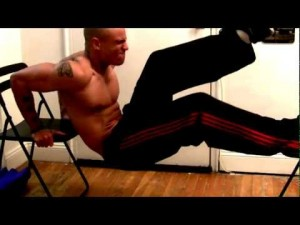 Hurricane Workout - Chair Dips