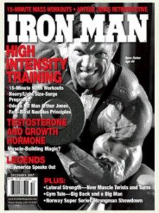 Dave Fisher Gracing the Cover of Iron Man Magazine